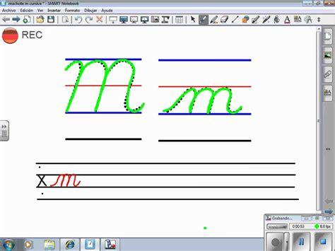 m en letra cursiva imagui trazo letra m cursiva youtube
