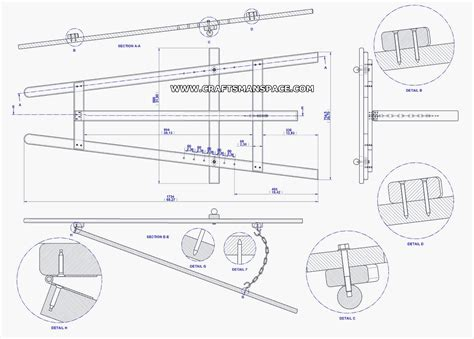easel patterns  complete plan  frame tripod easel plan   mb fablab idea