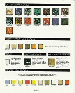 Mayco Ceramic Paint Color Chart Older Duncan Glaze Color Charts With Images Earth