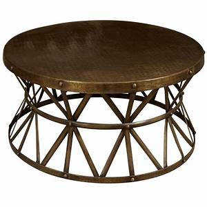 a round metal coffee table at 1stdibs With round wire coffee table