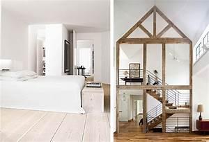 Deco Chambre Bois : deco interieur bois brut l 39 habis ~ Melissatoandfro.com Idées de Décoration