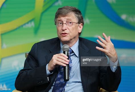 Microsoft chairman Bill Gates gives a speech during the ...