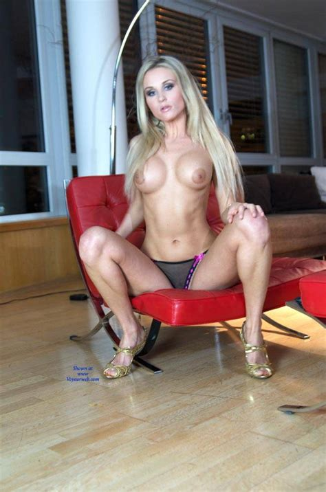 Topless Bloden In Red Chair May Voyeur Web Hall Of Fame