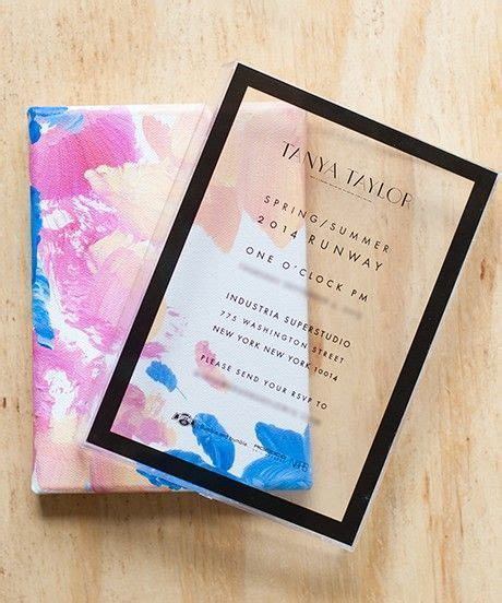 Transparent modern minimal wedding invitation design