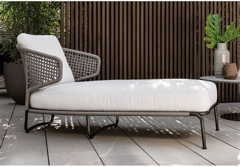 chaise en ch ti aston cord outdoor minotti chaise longue milia shop