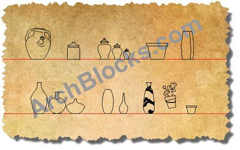 autocad blocks vases and pots