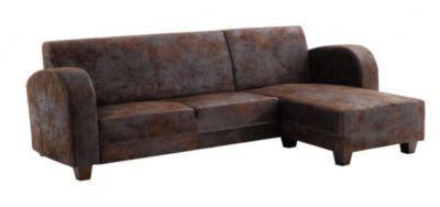 cabb canapé d 39 angle réversible marron vieilli ma