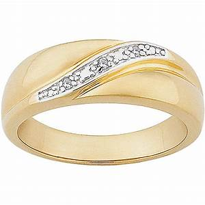 men39s diamond accent 14kt gold over sterling silver With mens wedding rings walmart