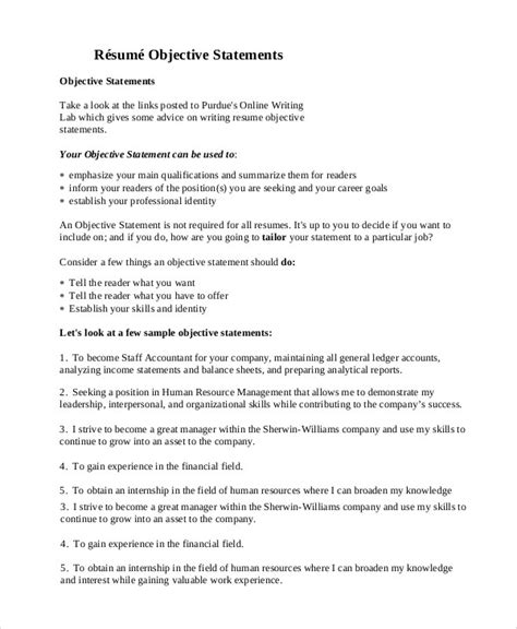 Sle Resume Objective Statement by Resume Objective General Resume Ideas