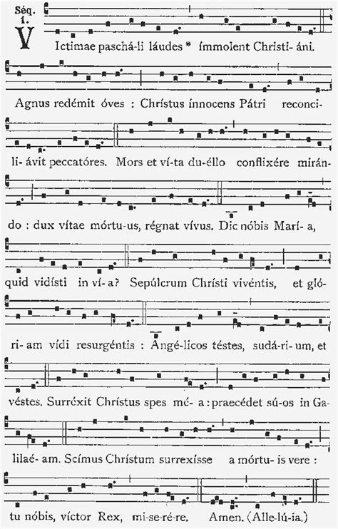 gregorian chant modern songs victimae paschali laudes canto gregoriano plainchant notation gregorian chant