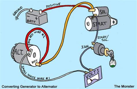 1 wire alternator wiring diagram facybulka me