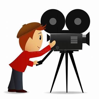 Camera Cartoon Vector Cameraman Broadcast Illustration Shoot