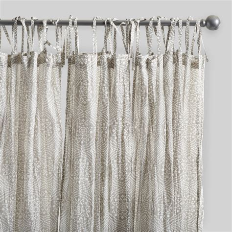 gray starburst crinkle cotton voile curtains set of 2