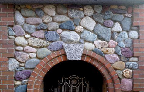 for indoor walls river rock materials