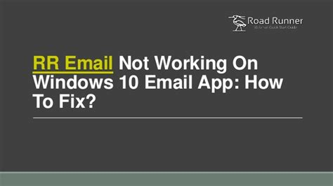 rr email  working  windows  email app   fix