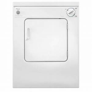 Whirlpool 3 4 Cu  Ft  240 Volt White Electric Vented Dryer