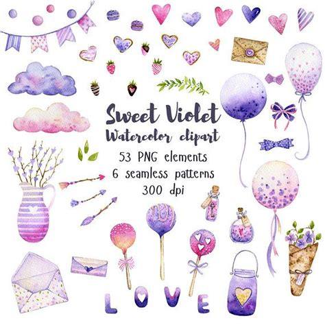 Valentine day Love day clipart Balloon watercolor Arrow