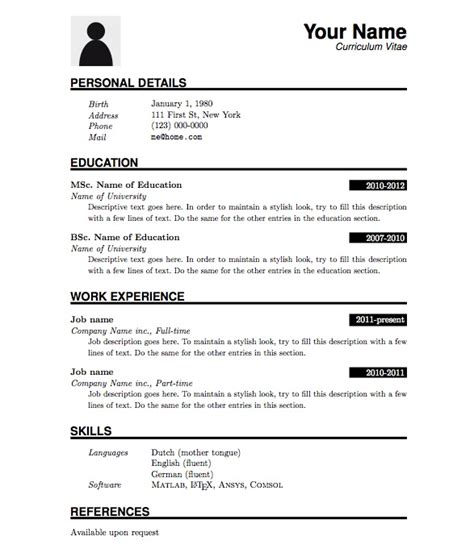 resume format pdf learnhowtoloseweight net