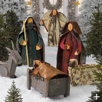 ideas  outdoor nativity sets  pinterest