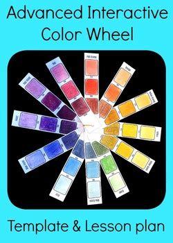 advanced interactive color wheel middle high school art