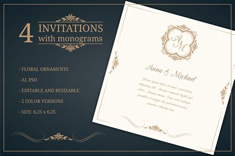 Wedding invitations with monograms ~ Wedding Templates