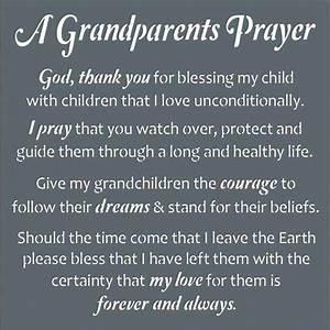 A Grandparent's Prayer ...