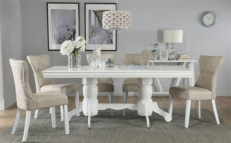 chatsworth white extending dining table   bewley