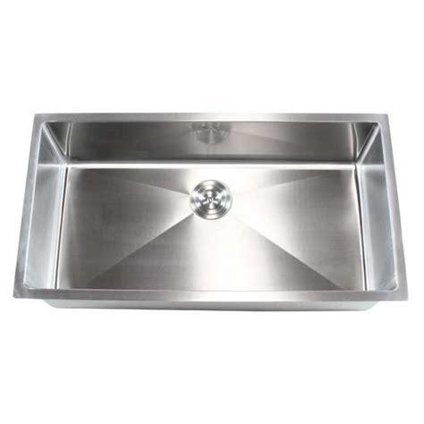 36 stainless steel sink ariel 36 inch stainless steel undermount single bowl