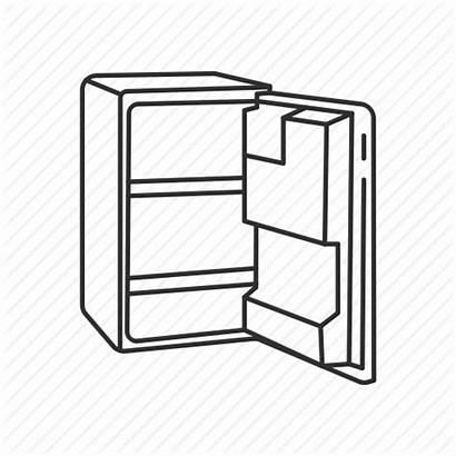 Clipart Fridge Empty Refrigerator Cartoon Transparent Kitchen