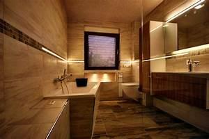 Beleuchtung Dusche Nische : referenzbad mit steinoptik und led beleuchtung herrmann b der w rme wasser gmbh ~ Yasmunasinghe.com Haus und Dekorationen