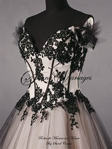 Robe De Mariée Noire : robe de mari e bustier originale couleur noir et bronze ~ Dallasstarsshop.com Idées de Décoration