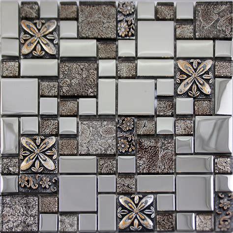glass mosaic tiles melted backsplash tile
