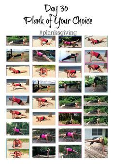 planksgiving  day challenge images  day