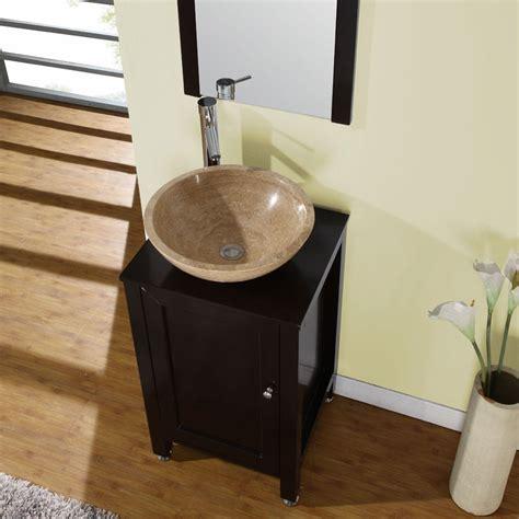 single vanity cabinet with vessel sink silkroad exclusive modern bathroom stone vessel vanity