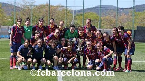 FC Barcelona Women win the Spanish Primera División 2014