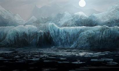 Wallpapers Ice Nature Sea Night Water Floes