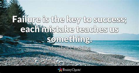 failure   key  success  mistake teaches