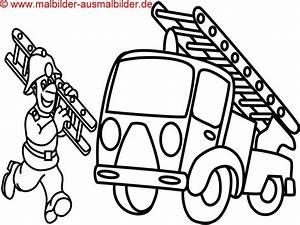 Ausmalbilder, Feuerwehr, Kostenlos