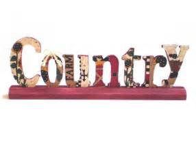 Standup Word Country, Country Farm Decor, Primitive