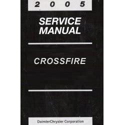 vehicle repair manual 2005 chrysler crossfire auto manual 2005 chrysler crossfire service manual