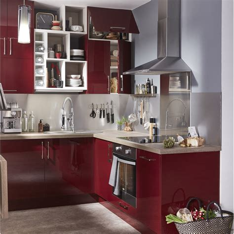 leroy merlin peinture meuble cuisine meuble de cuisine delinia griotte leroy merlin