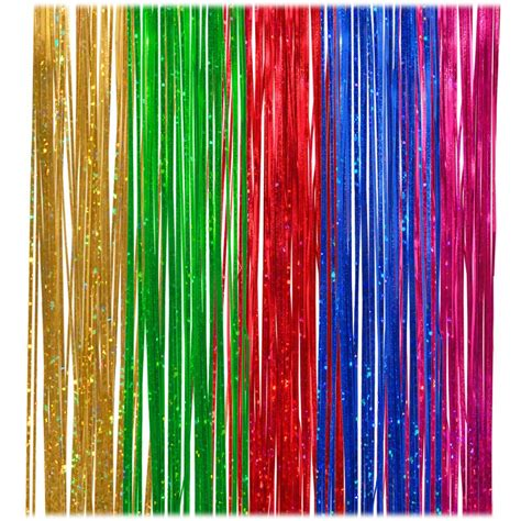 holographic 18 inch multi color icicle tinsel garland
