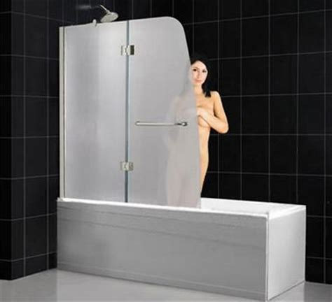 Frosted Glass Shower Door Frameless by How To Stop Your Shower Curtain From Blowing In