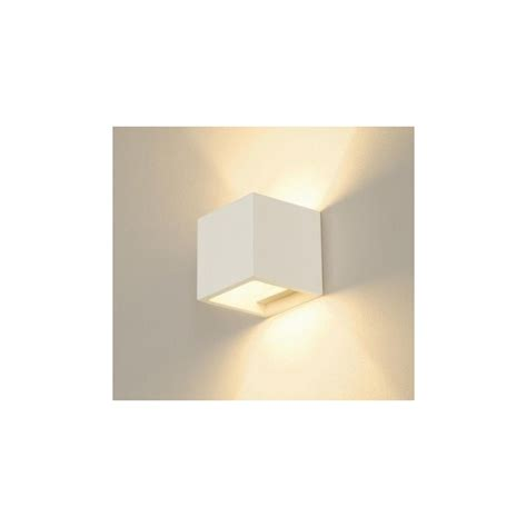 Applique Cubo by Clicson Applique Cubo In Gesso Ceramico Bianco