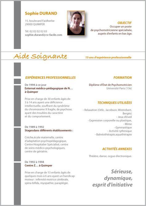 Aide Cv Gratuit by Modele Cv Eleve Aide Soignant Mod 232 Les De Cv