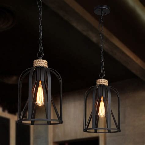 Vintage Dining Room Light Fixture by Retro Loft Style Iron Rope Edison Pendant Light Fixtures