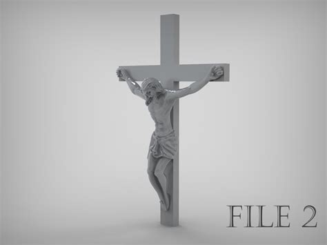 jesus crucifix  ready  prototyping stl  model