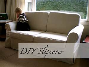 Slipcover tutorial part 2 cushions offsquare for Sectional sofa slipcovers diy