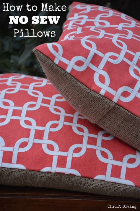 how to sew a pillow how to make pretty quot no sew quot pillows thrift diving