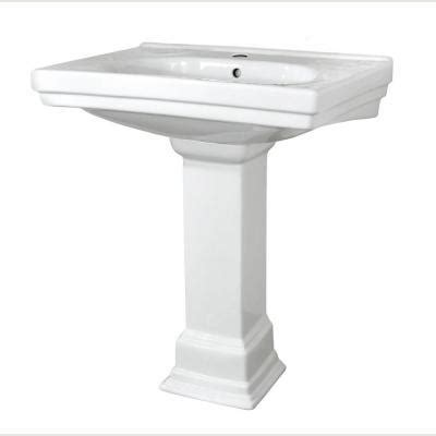 foremost structure lavatory pedestal sink combo in white